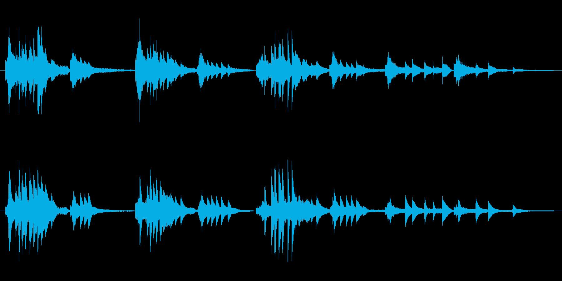 癒される穏やかなピアノの音の再生済みの波形