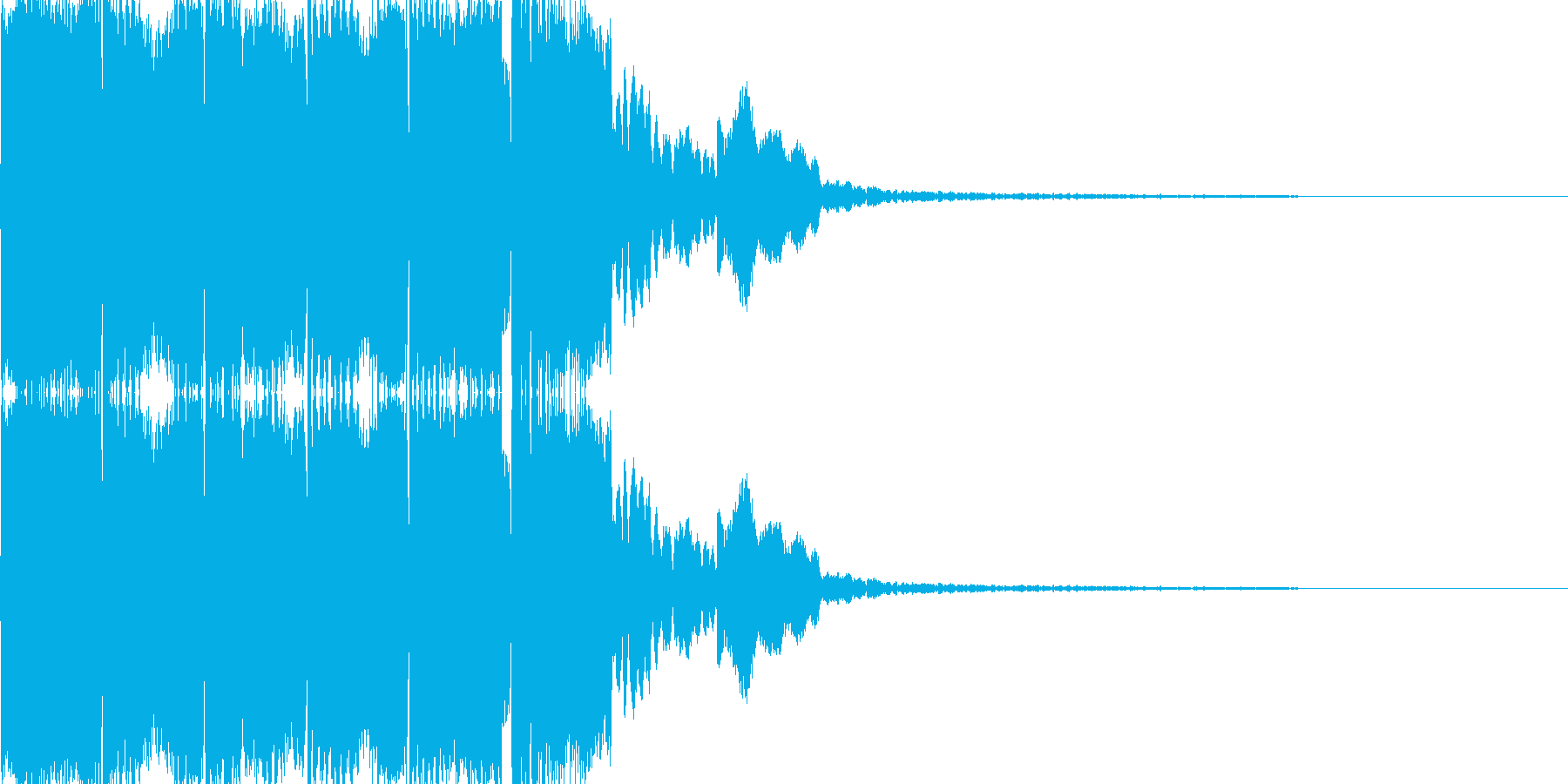 電子音(ピロリロリン)の再生済みの波形