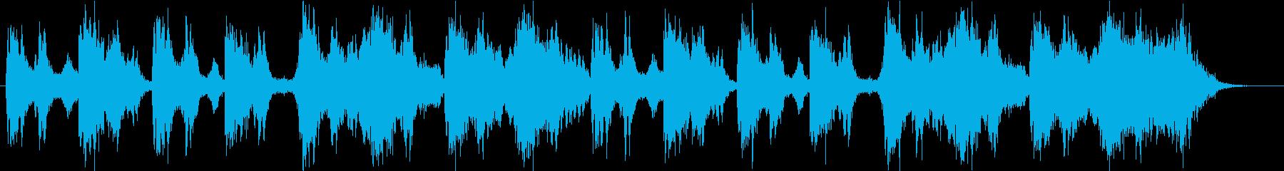 緊張感のある尺八入りBGM B21の再生済みの波形