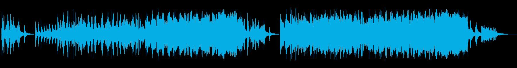 優しく美しいピアノサウンドの再生済みの波形
