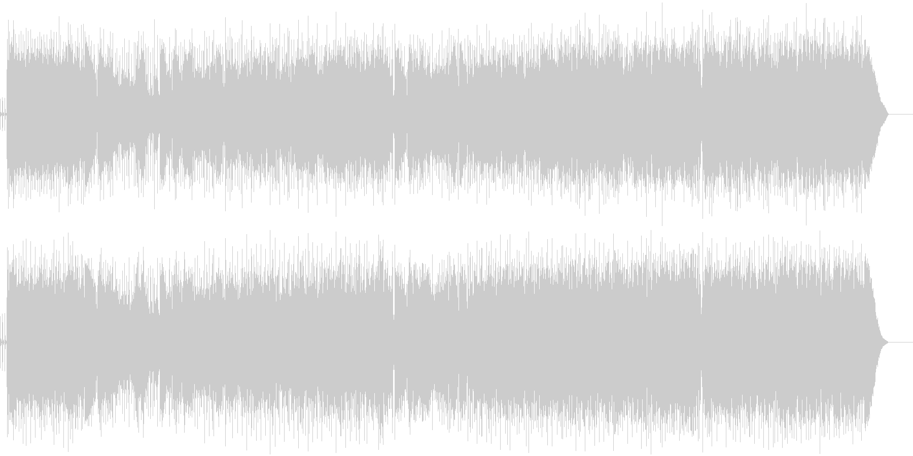 映像と相性の良いロックギターインストの未再生の波形