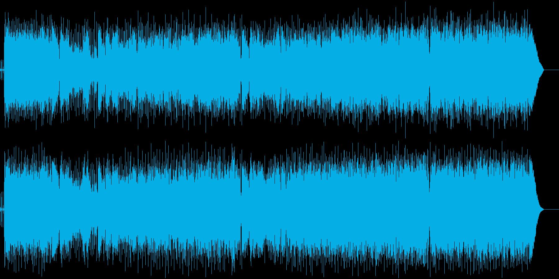 映像と相性の良いロックギターインストの再生済みの波形