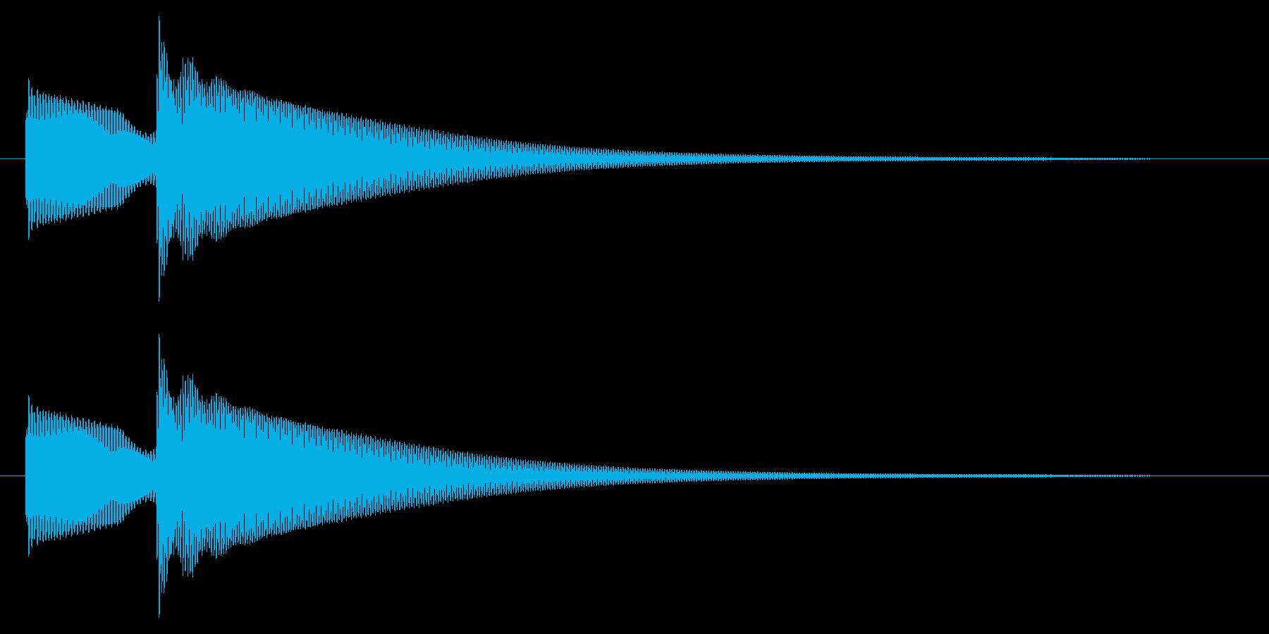ボタン押下や決定音_ピロン!の再生済みの波形