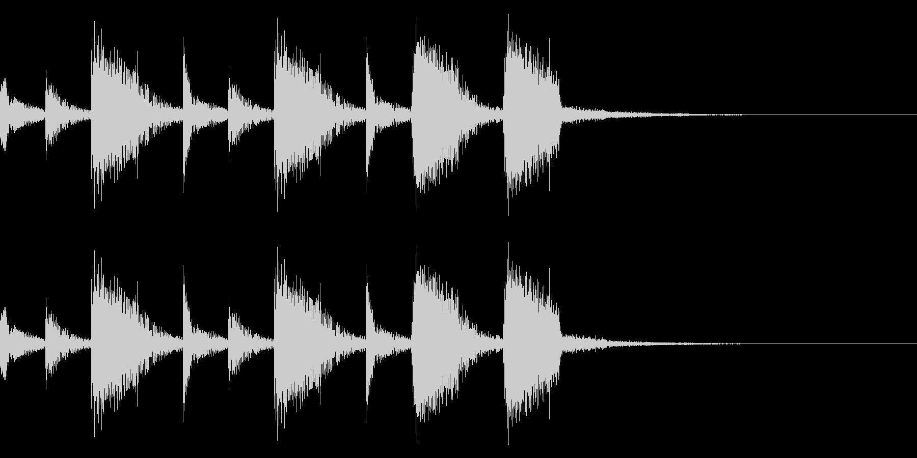 ギターのカッティング(ジングル)の未再生の波形