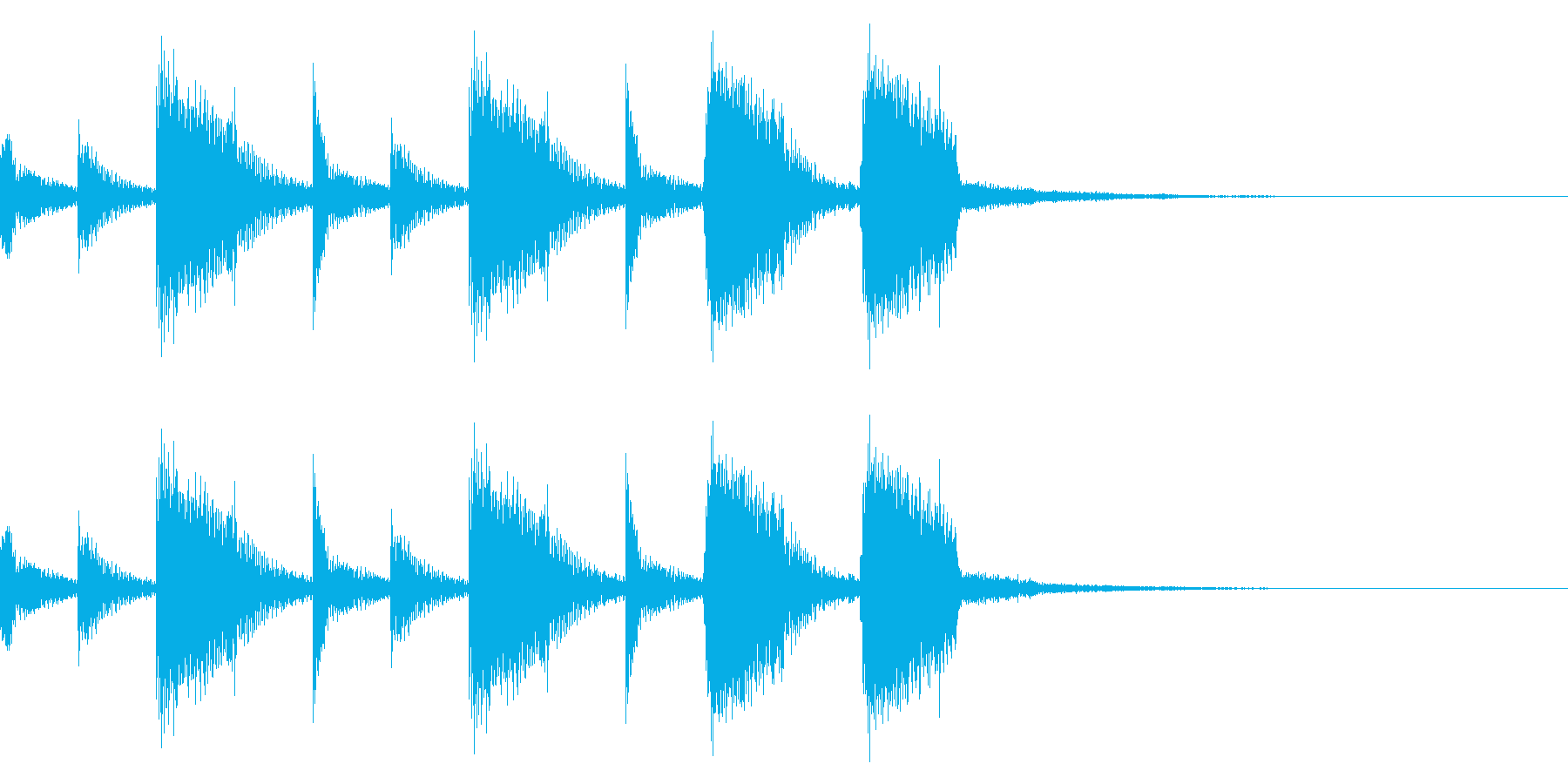 ギターのカッティング(ジングル)の再生済みの波形
