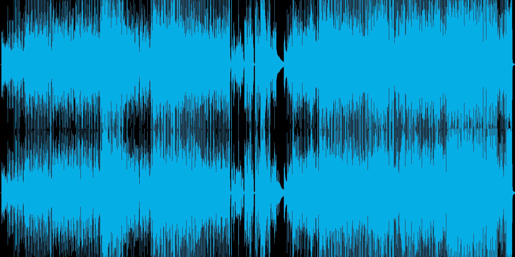 切ないピアノロックの再生済みの波形
