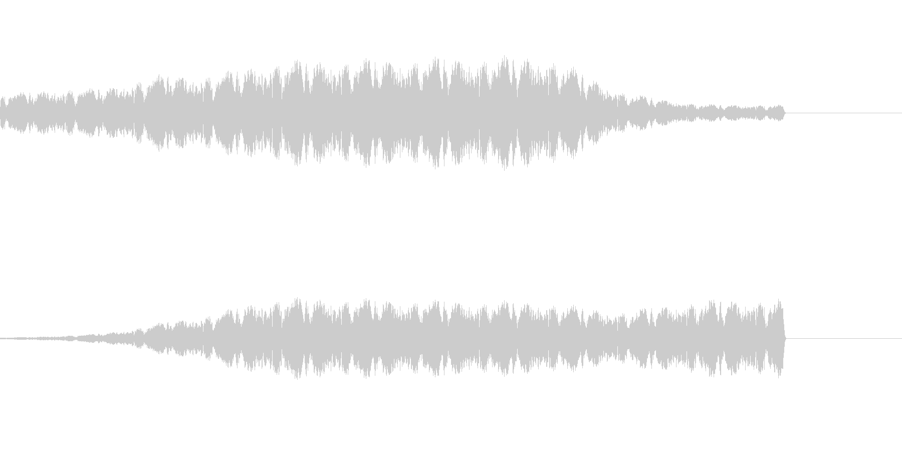 ファンファンファンとパトカーのサイレンの未再生の波形
