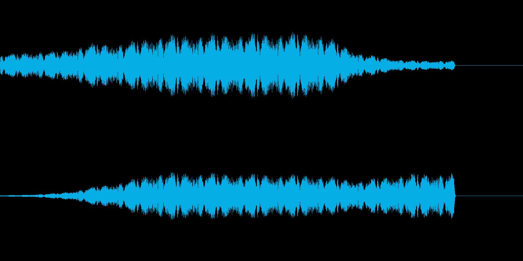 ファンファンファンとパトカーのサイレンの再生済みの波形