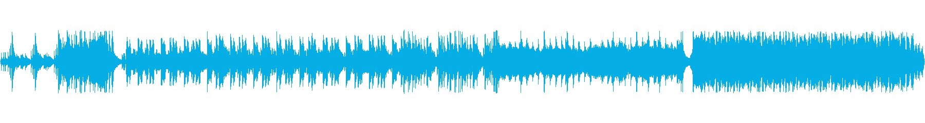和風戦国ループロック音源の再生済みの波形