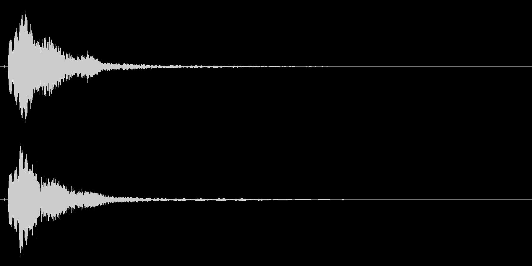 ピキーン!シャキーン!シンプルな光2Vの未再生の波形