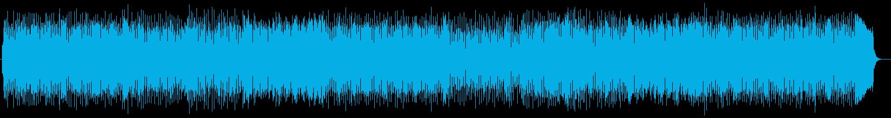 明るく爽快なシンセサイザーサウンドの再生済みの波形