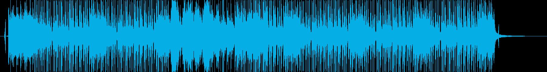 和風で速いテンポの曲の再生済みの波形