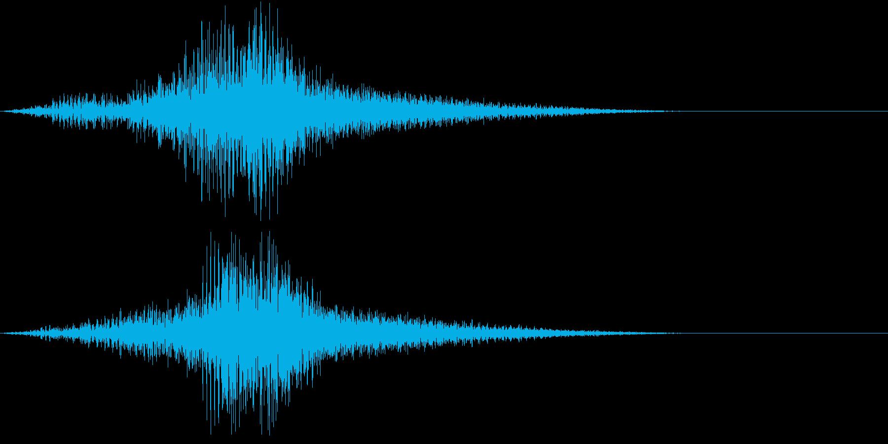 過去の記憶がプレイバックする音の再生済みの波形