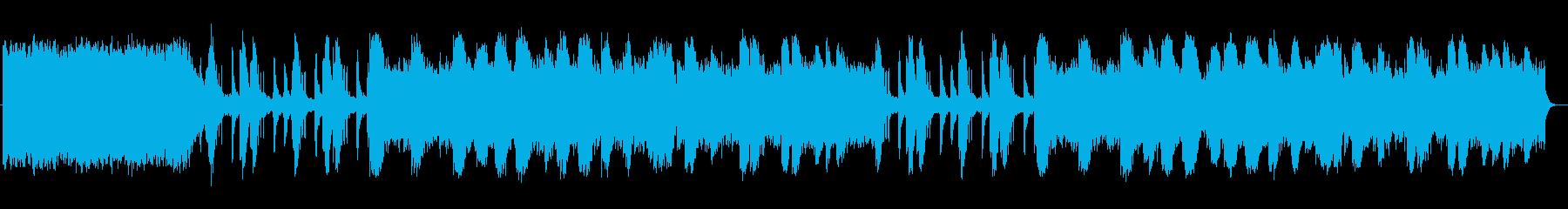荘厳で幻想的な音色のスローな曲の再生済みの波形