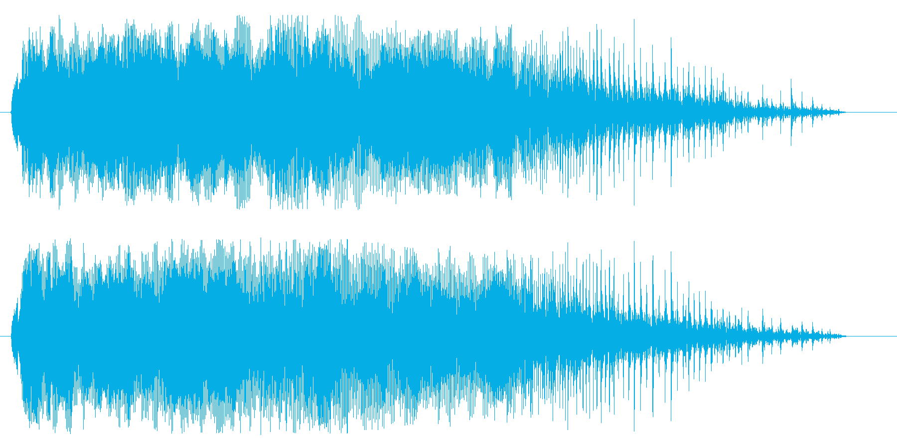 木製ドアの開閉のきしみ音の再生済みの波形