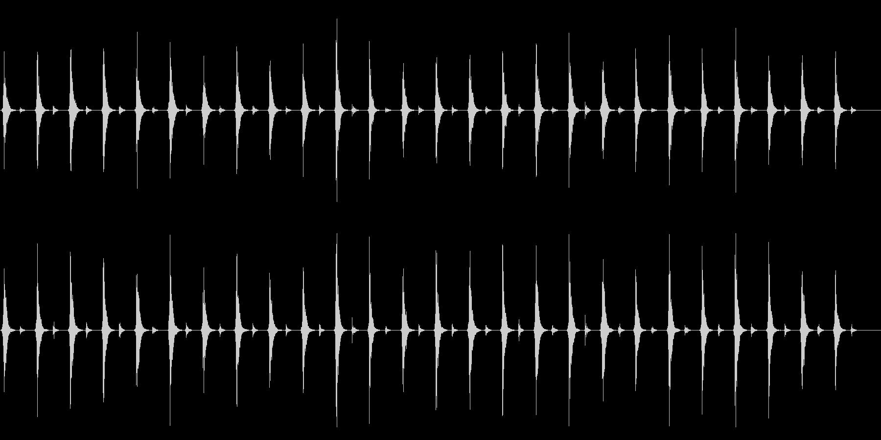 時計 秒針のリアルな効果音01(長め)の未再生の波形