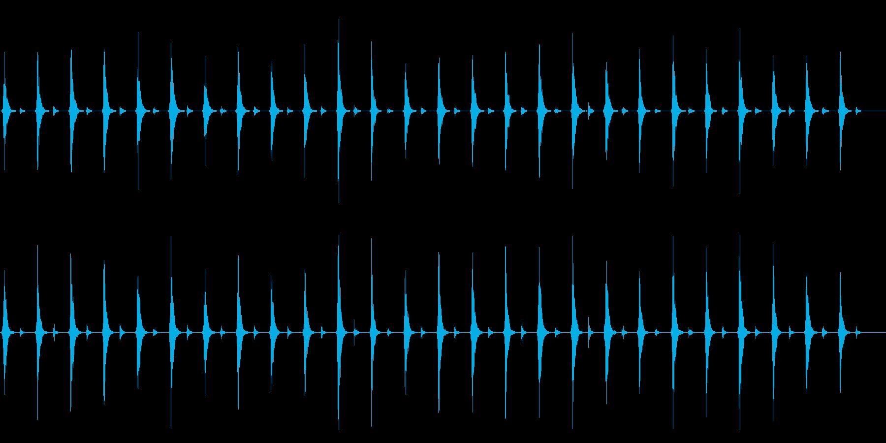 時計 秒針のリアルな効果音01(長め)の再生済みの波形