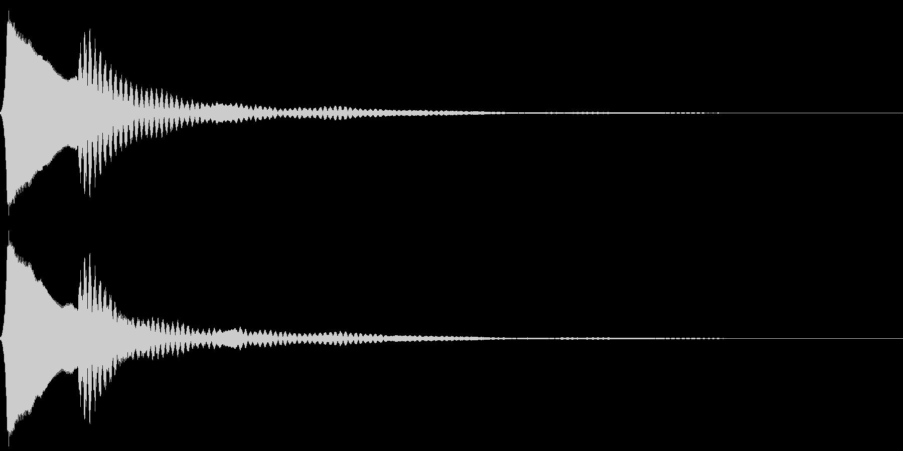 ピポン。クイズ回答・正解音(高)の未再生の波形