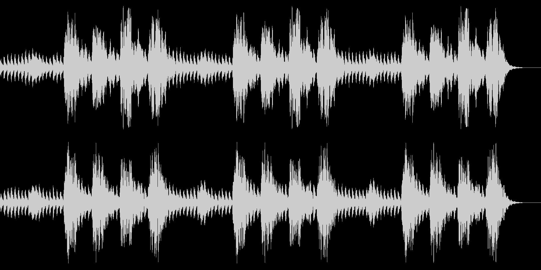 コーラスとピアノ 怪談 心霊 怖いBGMの未再生の波形