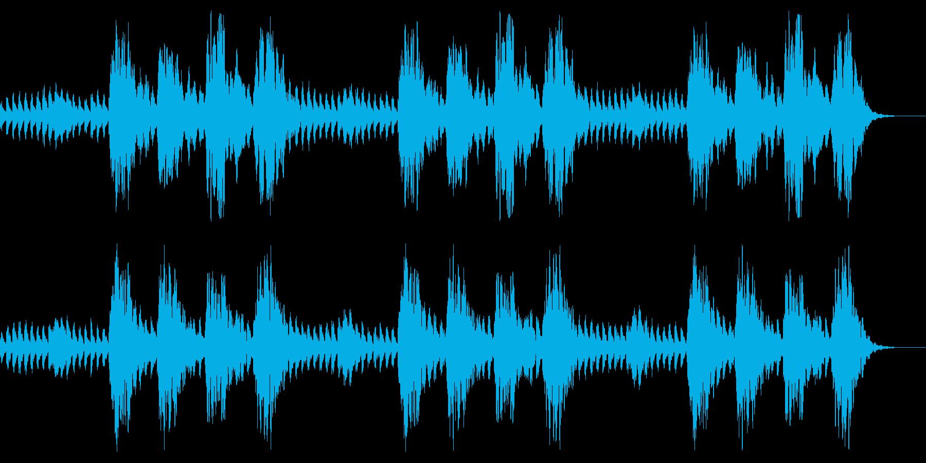 コーラスとピアノ 怪談 心霊 怖いBGMの再生済みの波形