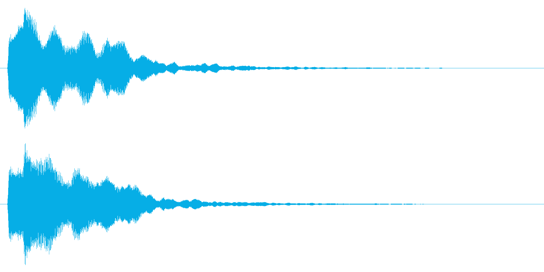 成功/シンプル/鉄琴の再生済みの波形
