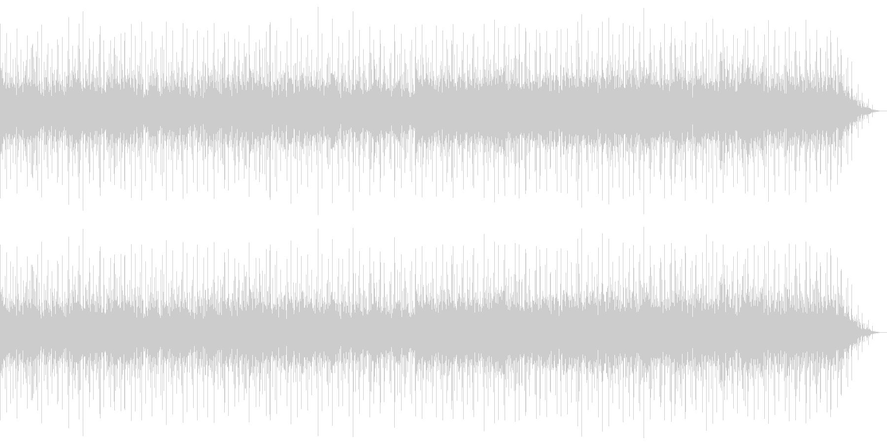 とても心地の良い落ち着いた音の未再生の波形