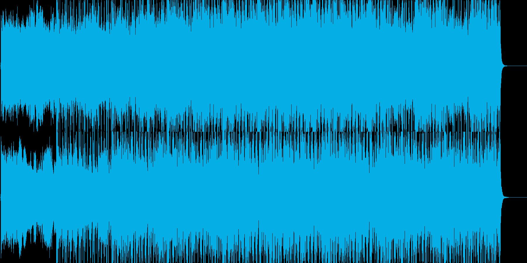幻想的且つ哀愁漂うテクノの再生済みの波形