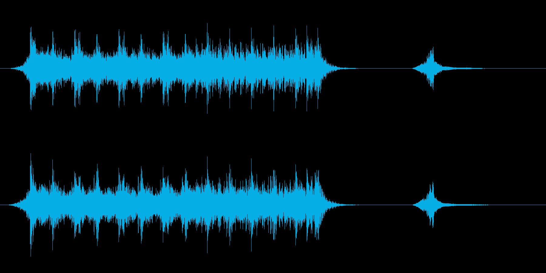 緊迫感のある予告編風BGMの再生済みの波形
