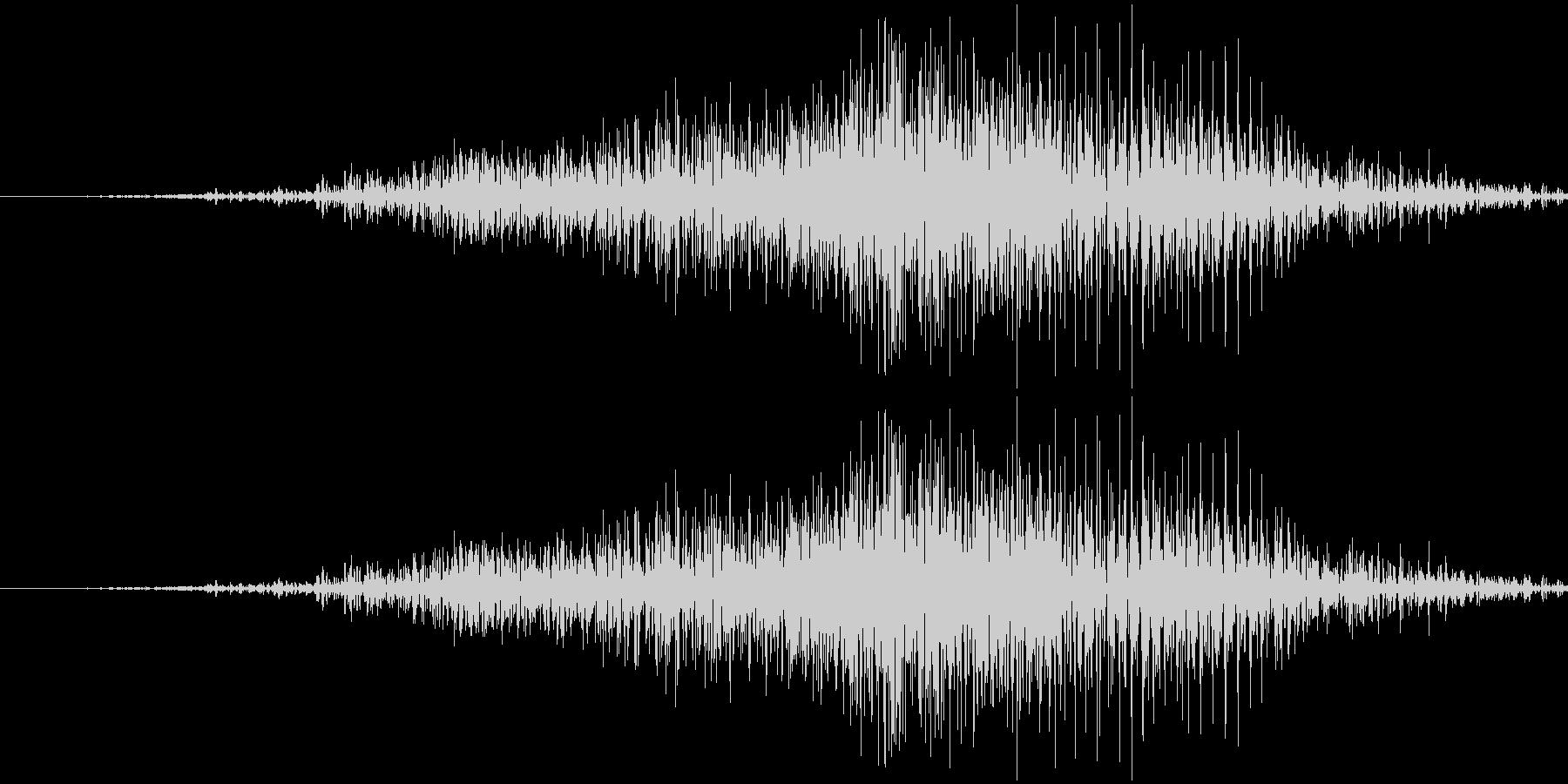 ファスナーの音の未再生の波形
