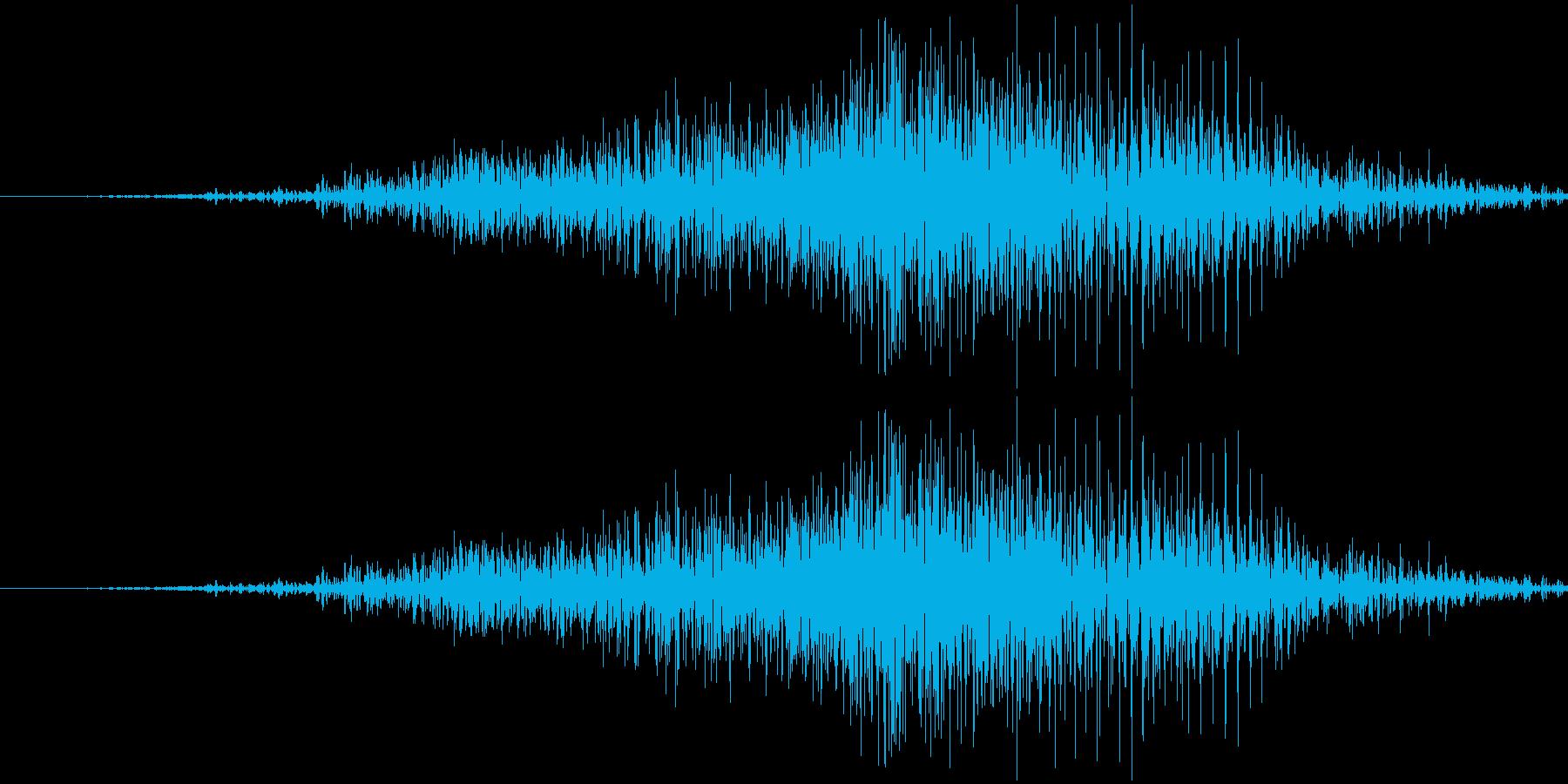 ファスナーの音の再生済みの波形