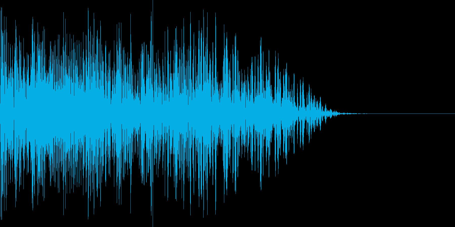 爆発音、爆発タイプスキルの再生済みの波形