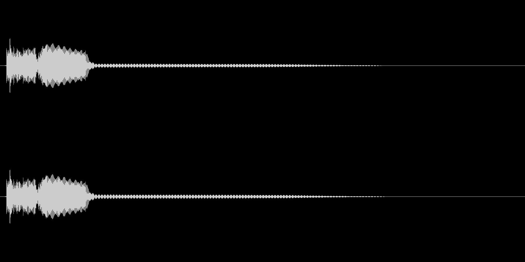 8bit効果音「ピロリーン」の未再生の波形