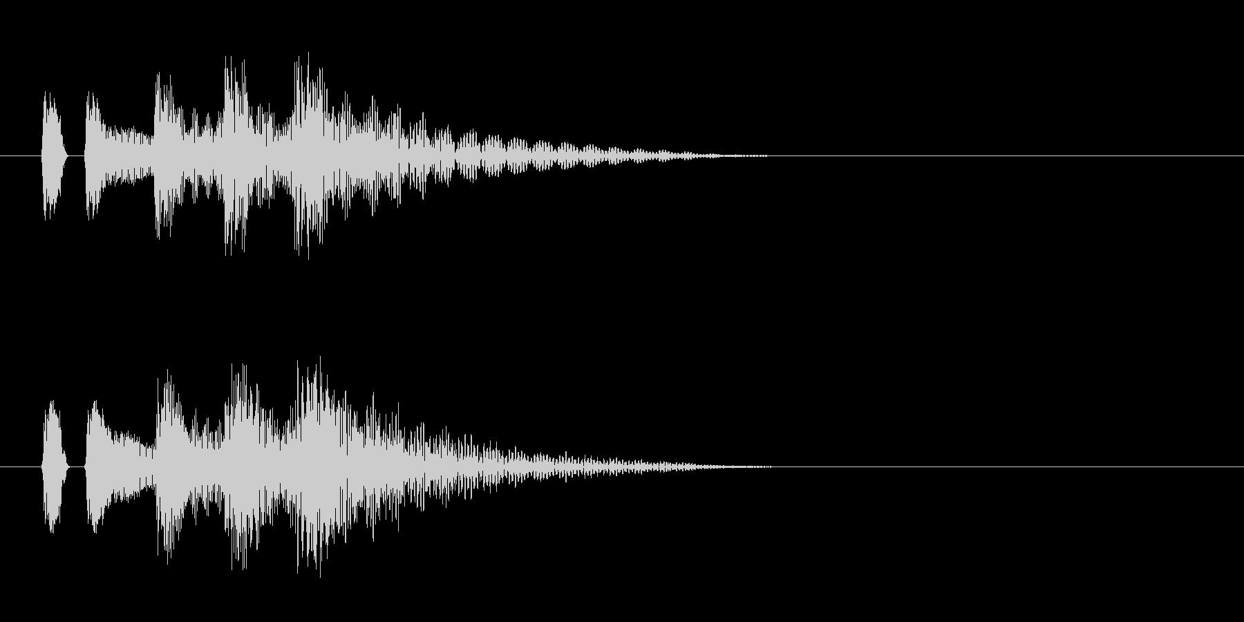 マリンバ。決定音など。タララランの未再生の波形