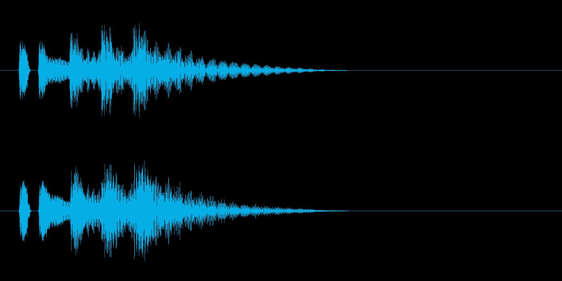 マリンバ。決定音など。タララランの再生済みの波形
