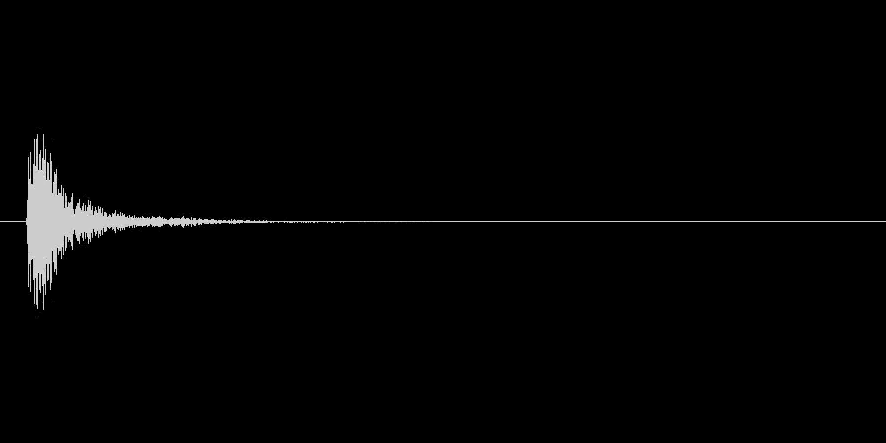 金属系の決定音の未再生の波形