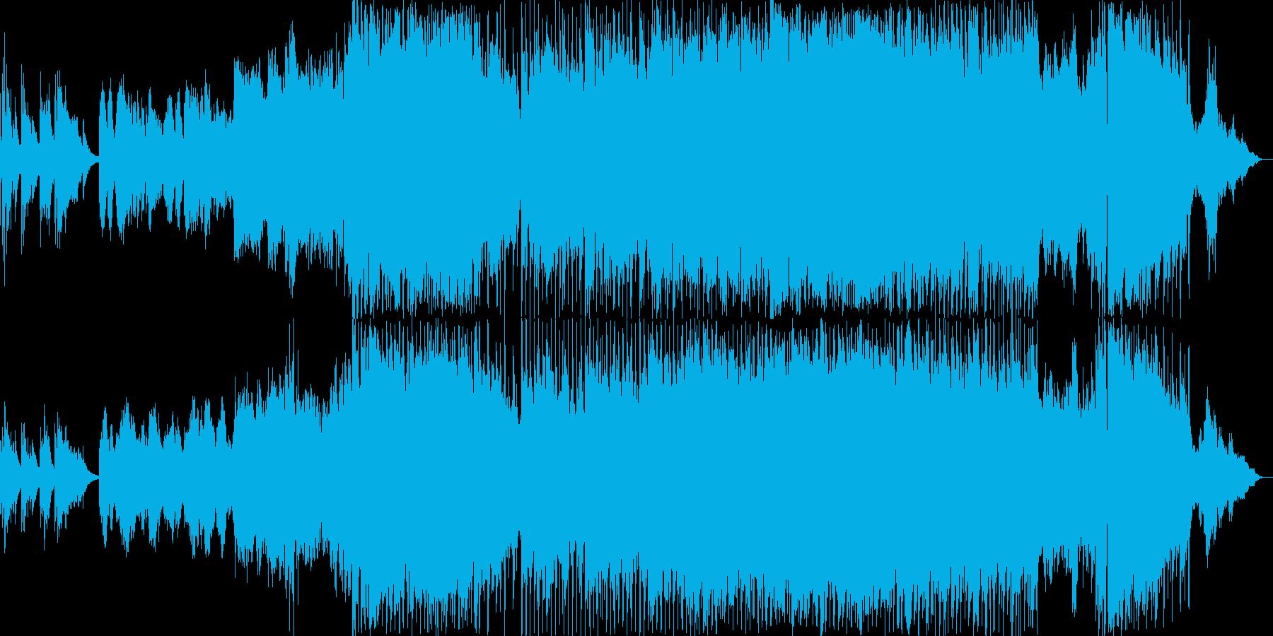 K-pop風のマイナーバラードの再生済みの波形