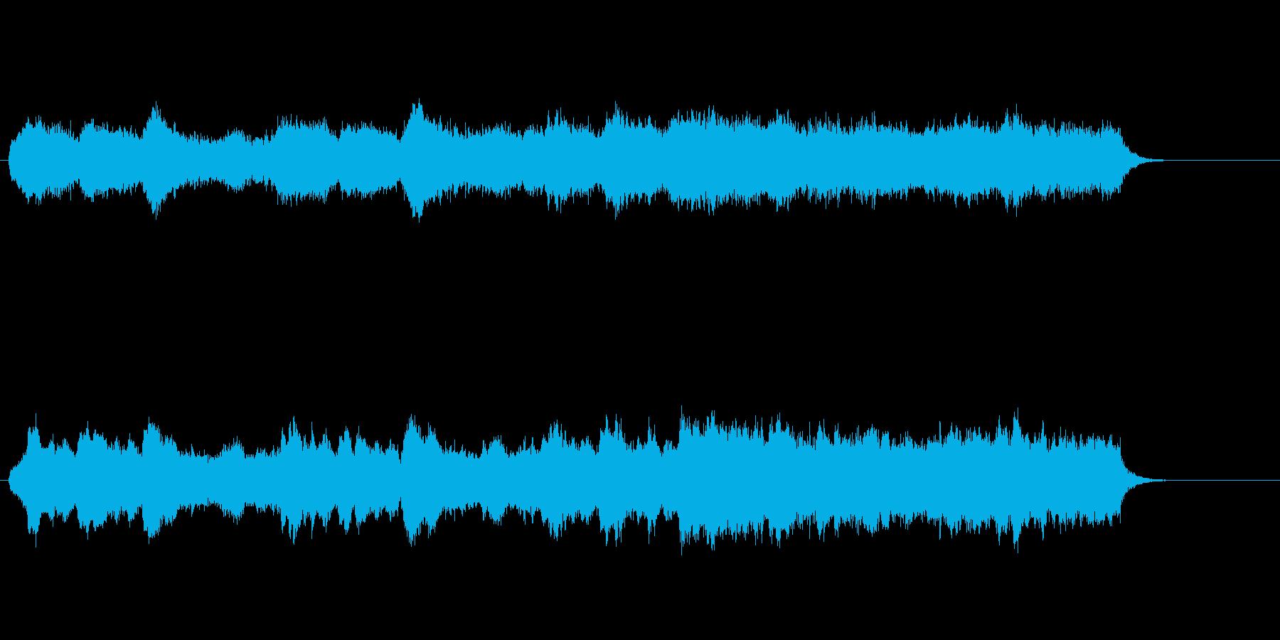 涼しげなイージー・リスニング風の曲の再生済みの波形