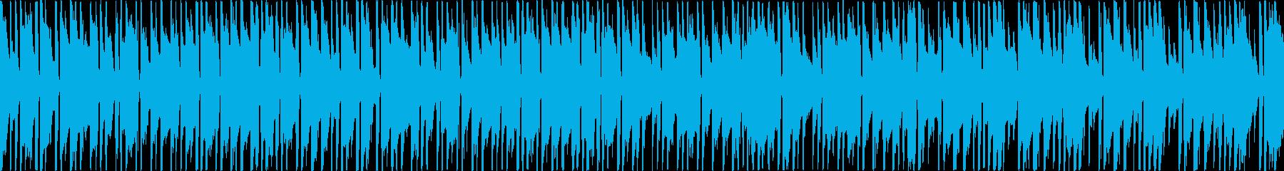お洒落なボサノバ(メロディ無し・ループ)の再生済みの波形