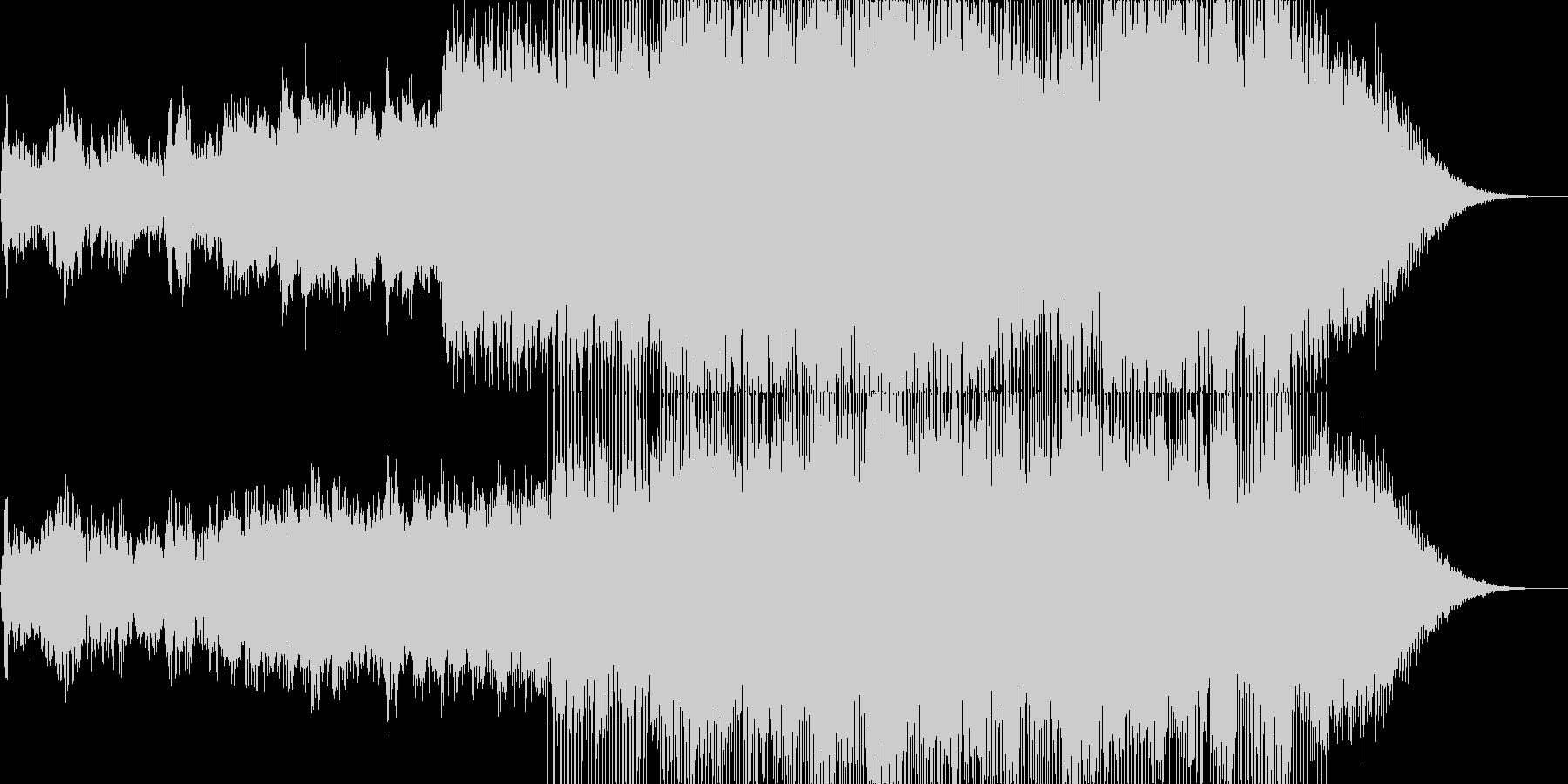 幻想的で明るい印象のアンビエントハウスの未再生の波形