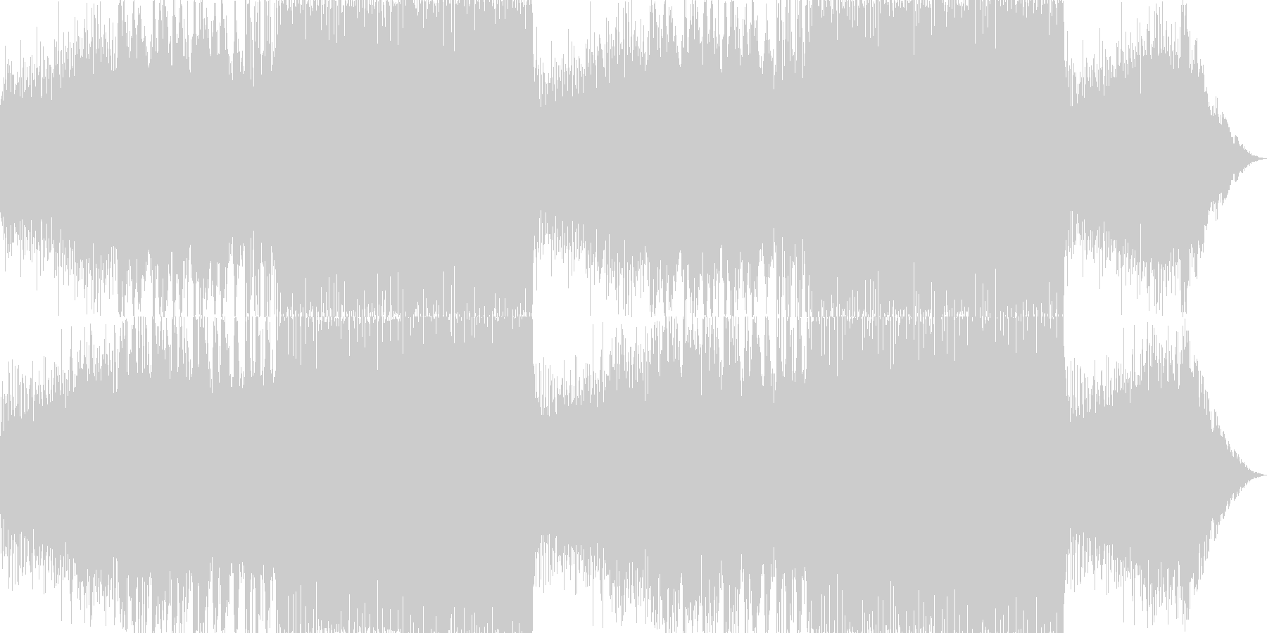 シリアスで重厚なピアノトランスの未再生の波形