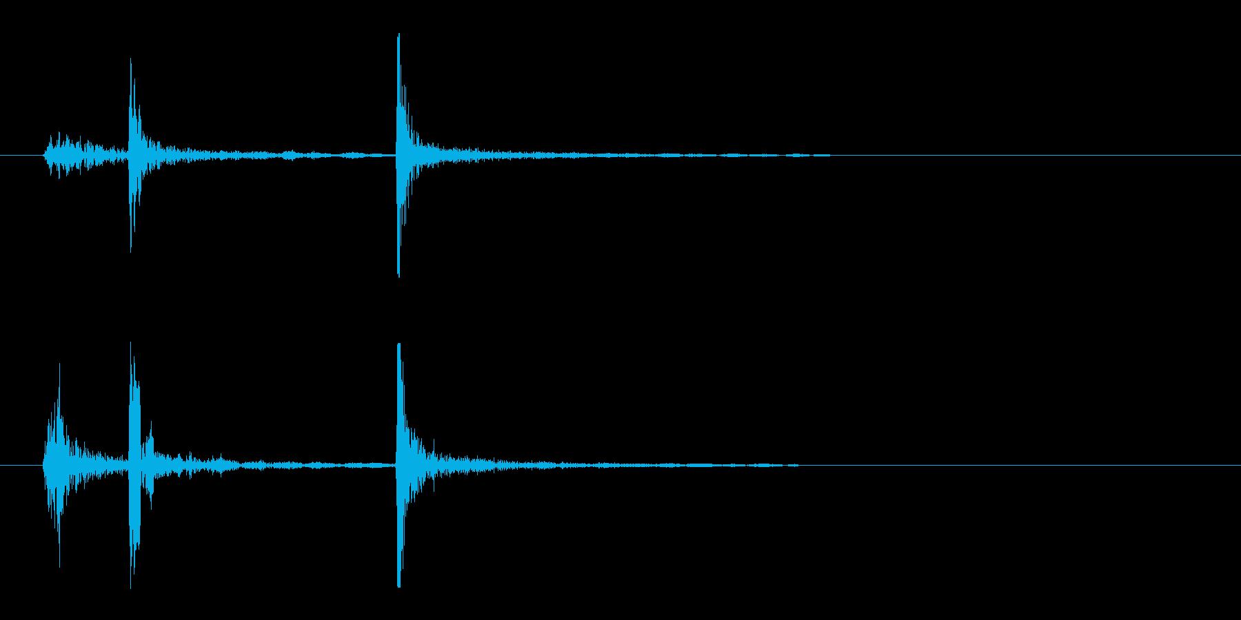 カチッ(駒を置いた時のような音)の再生済みの波形
