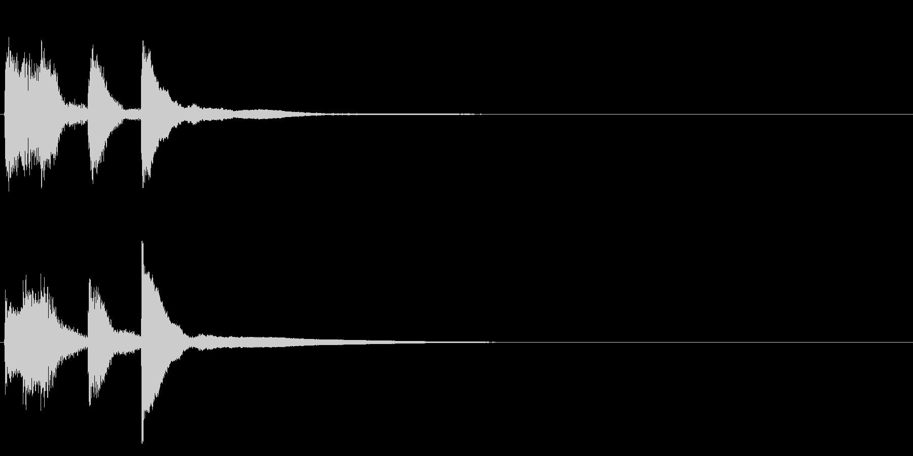 サウンドロゴ(企業ロゴ)_023の未再生の波形