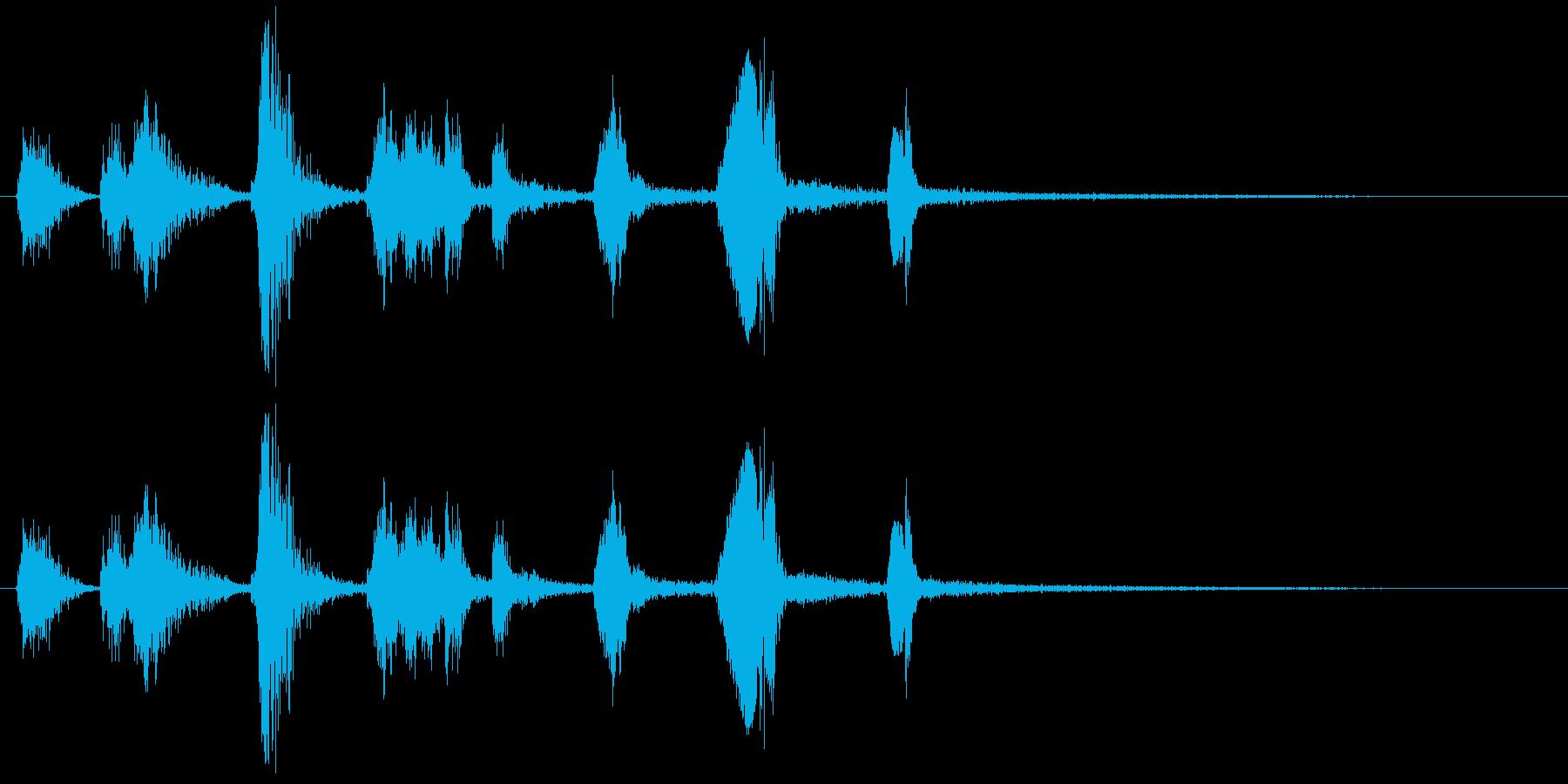 モンスターの鳴き声(水棲系2)の再生済みの波形