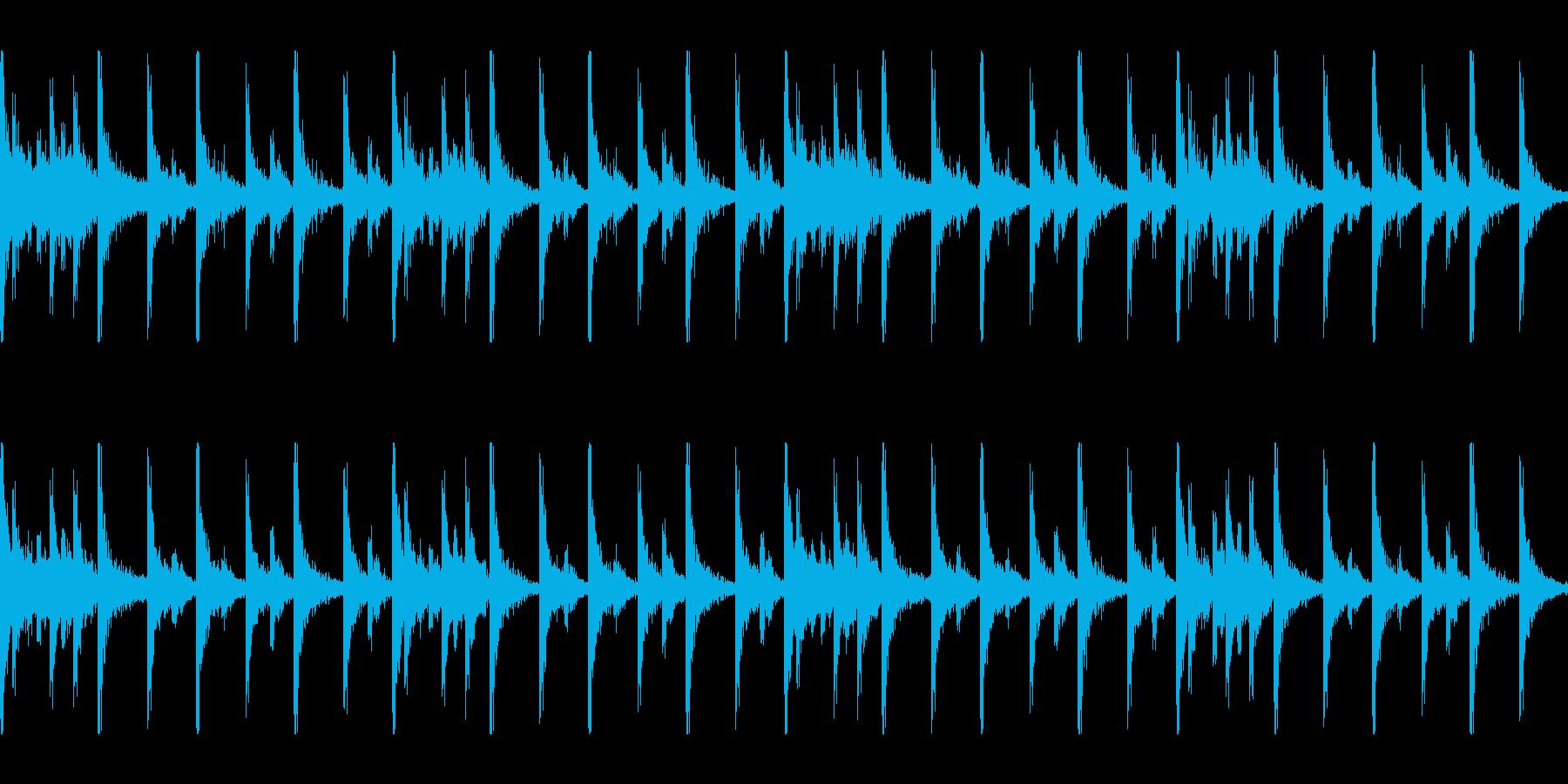 勇敢な行進スネアドラムロールBPM120の再生済みの波形