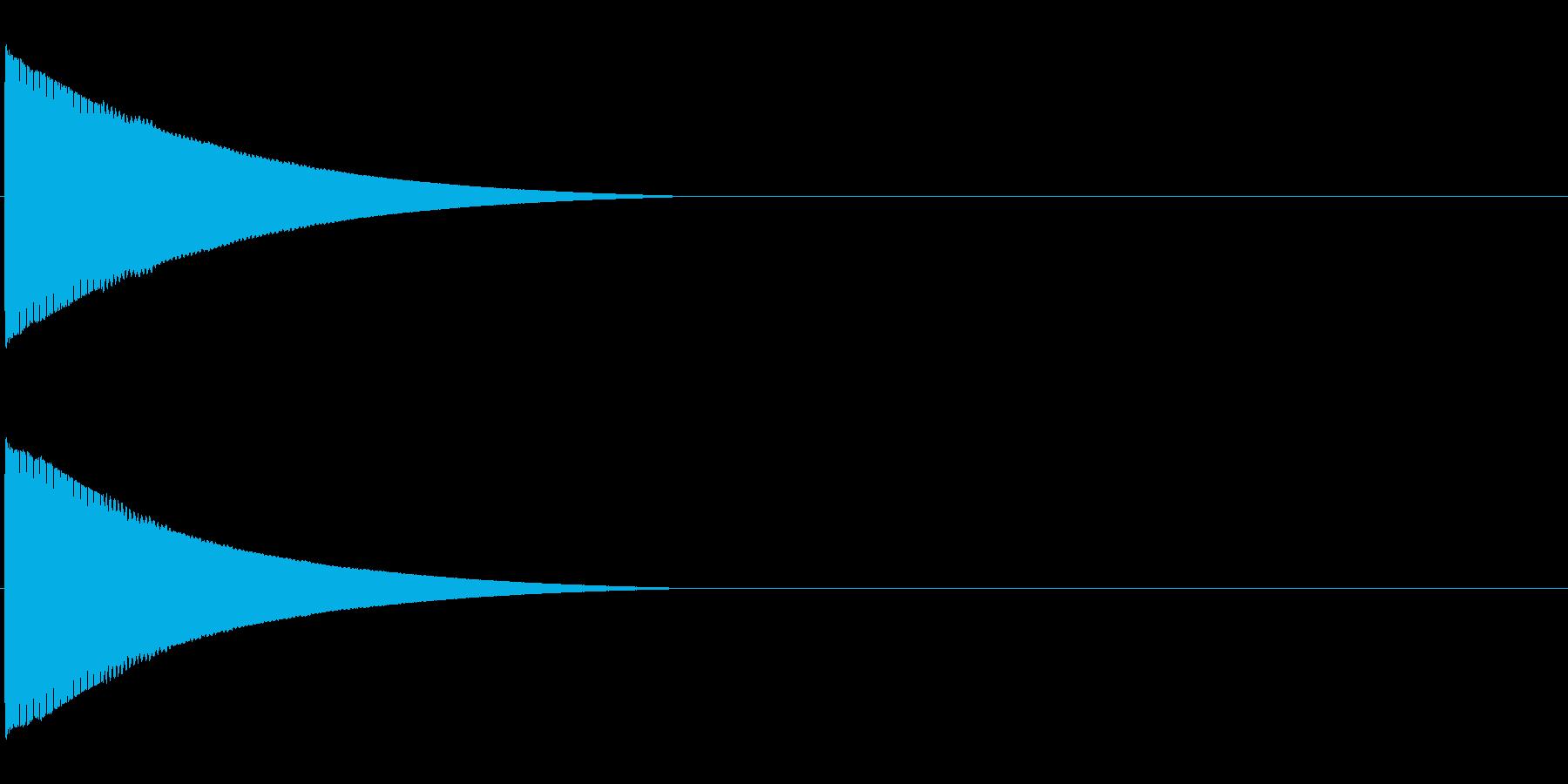 ピローン、ピコーンといった効果音「ソ」の再生済みの波形