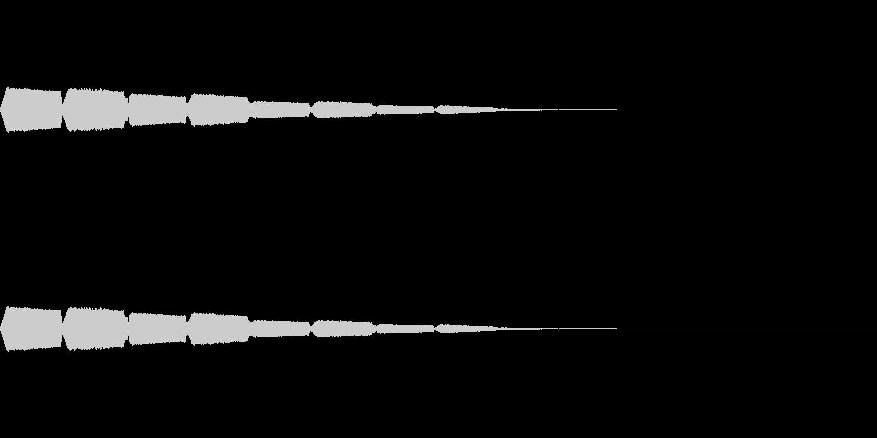 ピロピロピロ……。の未再生の波形