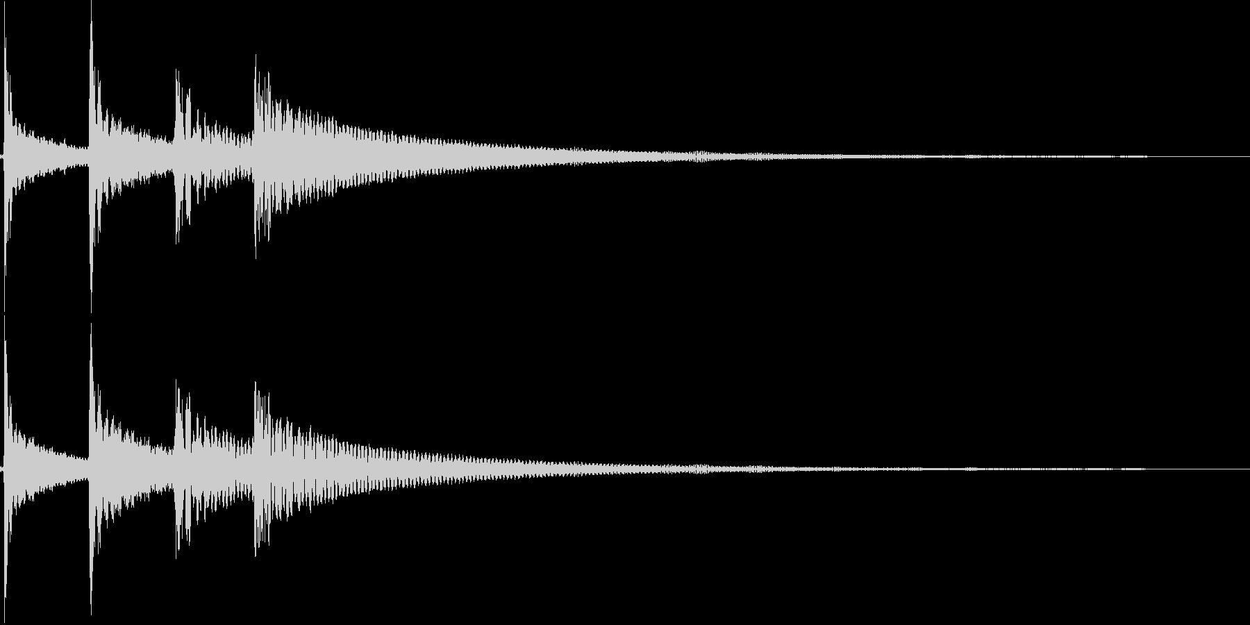 コロロン(決定、出現、回転、結果)の未再生の波形