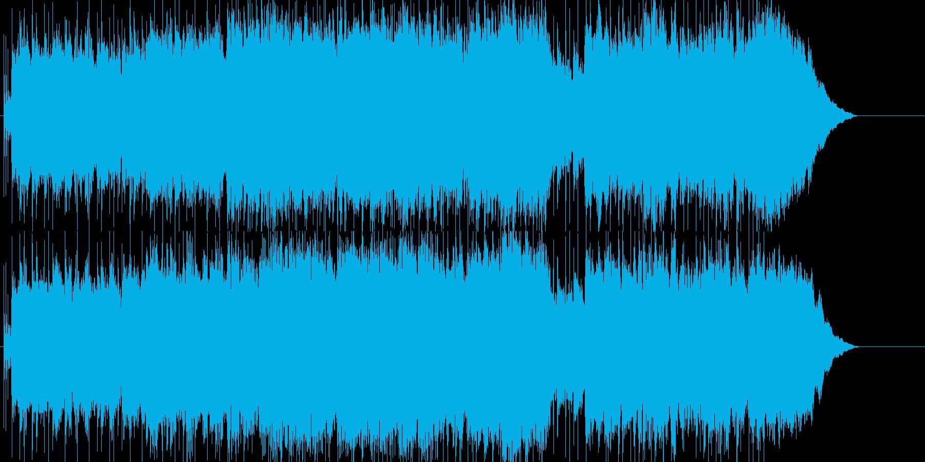 前向きになる優しいロックの再生済みの波形
