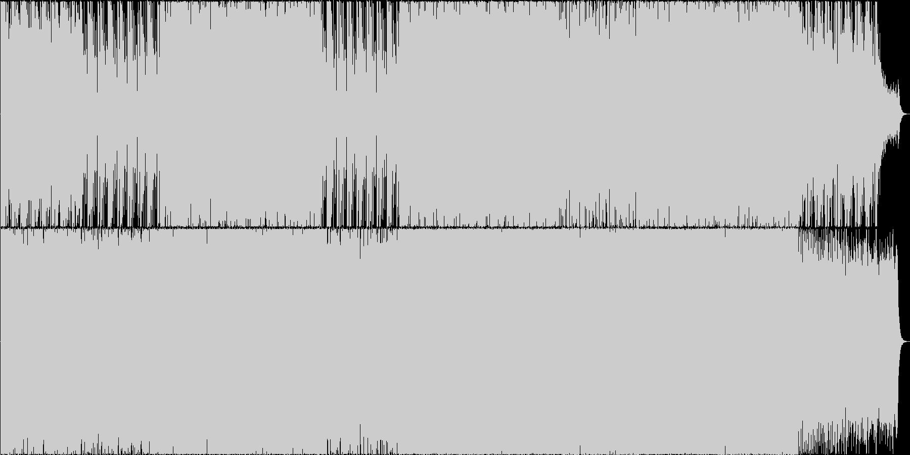 夢見る甘い感じのBGMの未再生の波形
