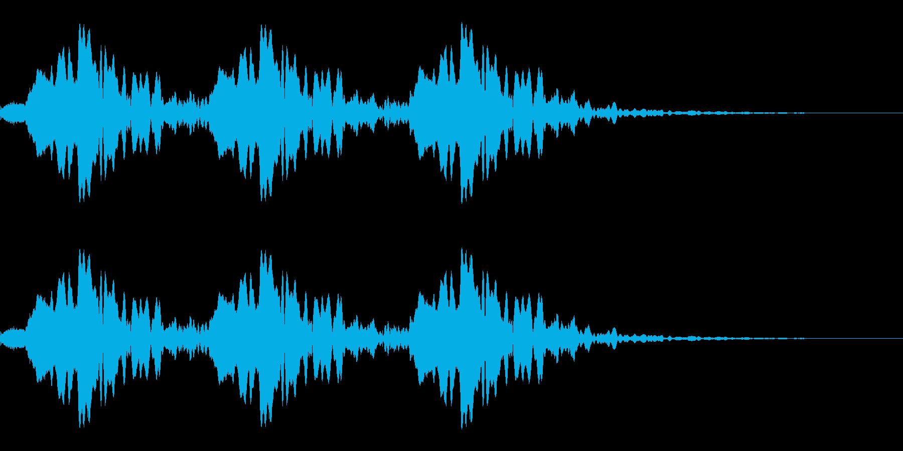 ホイッスル「ピピピッ!!」の再生済みの波形